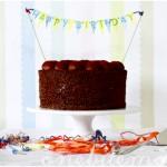 triple chocolate birthday cake