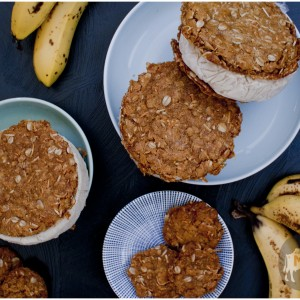 banana-coconut ice cream sandwiches